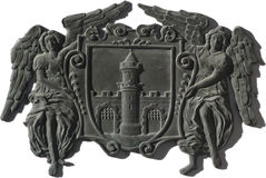 Crest of Koszeg, Hungary. The crest of the medieval town of Koszeg, Hungary Stock Images