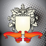 Crest element with red ribbon Stock Photo