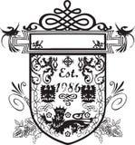 Crest emblem design Royalty Free Stock Image
