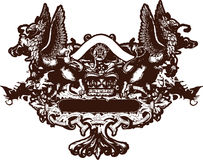 Crest emblem design Royalty Free Stock Photo