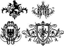 Crest emblem design Stock Image