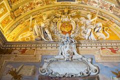 Crest and Frescos in Vatican Royalty Free Stock Photo