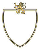 Crest with golden lion. Coat of arms Royalty Free Stock Photos