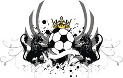 Crest Heraldic black lion tattoo soccer futbol coat of arms. Heraldic black lion tattoo soccer futbol coat of arms in vector format very easy to edit Royalty Free Stock Images