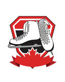 Crest with Ice Skates Royalty Free Stock Image