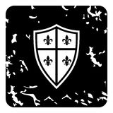 Crest icon, grunge style Royalty Free Stock Photo