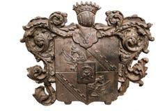 Crest of konung Chernyshev. Volokolamsk, RUSSIA - July 16, 2017: crest of konung Chernyshev Stock Image