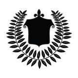 Crest with Laurel Leaf. Crest with Fleur-de-lis  and Laurel leaf surrounding Royalty Free Stock Photo