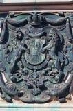 Crest na estátua do príncipe Eugene do couve-de-milão em Viena, Áustria Fotografia de Stock Royalty Free