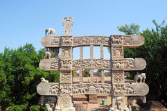 Sanchi gate Stock Photography