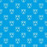 Crest pattern seamless blue. Crest pattern repeat seamless in blue color for any design. Vector geometric illustration Royalty Free Stock Photography