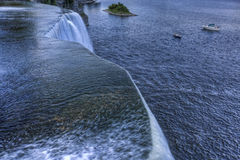 At the crest of the Rideau Falls, Ottawa Stock Image