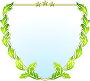 Crest sign. Coat of arms royalty free illustration
