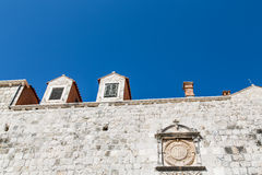 Crest on Stone Wall of Ancient Dubrovnik Stock Photography