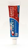 Crest toothpaste. New York, January 25, 2017: A tube of Kid`s Crest toothpaste isolated on white background Royalty Free Stock Image