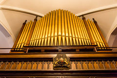 Crest Under Organ Pipes Royalty Free Stock Photos