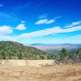 Crest view. View looking out from the crest of the Sandia mountains Royalty Free Stock Photography