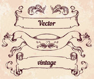 Crest with vintage style design elements, use for logo, frame Royalty Free Stock Photography