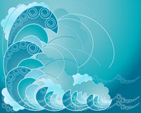 Crest of a wave Royalty Free Stock Image