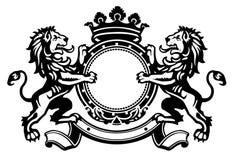 Cresta 1 del león Imagen de archivo libre de regalías