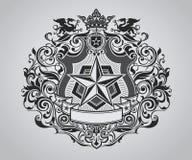 Cresta adornada del escudo libre illustration