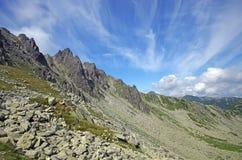 Cresta alpina fotografia stock