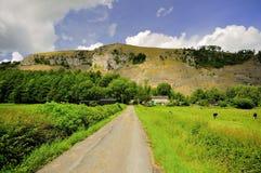 Cresta bianca del calcare della cicatrice, Cumbria fotografia stock libera da diritti