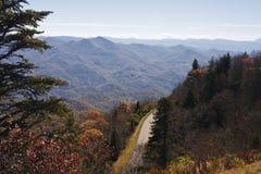 cresta blu della strada panoramica Immagini Stock