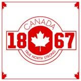 Cresta canadiense del vector Fotografía de archivo
