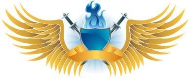 Cresta coa alas del fuego Fotografía de archivo libre de regalías