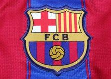 Cresta de Barcelona del club del balompié Fotos de archivo