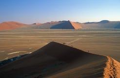 Cresta de la duna de arena Fotos de archivo libres de regalías