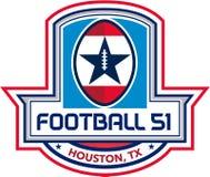 Cresta de las estrellas de Houston American Football 51 retra Fotos de archivo libres de regalías