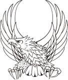 Cresta del águila de la insignia Fotos de archivo