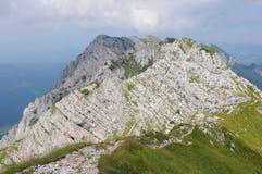 Cresta del nord delle montagne di Piatra Craiului Immagini Stock Libere da Diritti