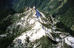 Cresta della montagna Immagini Stock Libere da Diritti