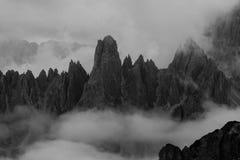 Cresta della montagna Immagine Stock