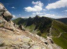 Cresta della montagna in estate Fotografia Stock