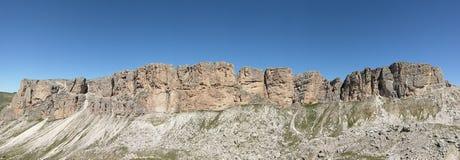 Cresta della montagna, Pizes di Cir, dolomia, Italia Fotografia Stock