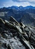 Cresta della roccia della montagna fotografia stock