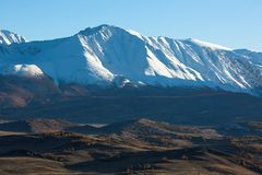 Cresta delle montagne di Altai, Repubblica di Nord-Chui di Altai Immagini Stock Libere da Diritti