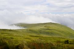 Cresta di Borzhava Montagne carpatiche, Ucraina immagini stock