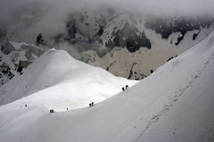 Cresta di Chamonix-Mont-Blanc Fotografia Stock