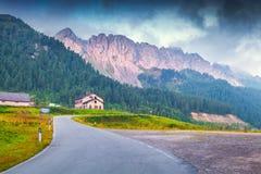 Cresta di Enghe mountain range at foggy summer morning Royalty Free Stock Photography