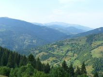 Cresta di Marmaros fotografie stock