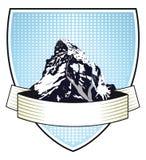 Cresta di montagna araldica Immagini Stock