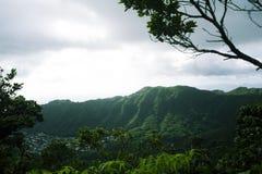 Cresta hawaiana del moutain Fotografie Stock Libere da Diritti