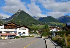 Cresta magnifica della montagna in Lutago, Tirolo del sud, alpi, Italia Immagine Stock Libera da Diritti