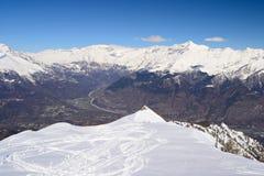 Cresta nevosa panoramica Immagine Stock Libera da Diritti