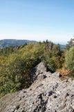 Cresta principale della cresta di Karlsruher a Ottenhöfen fotografie stock